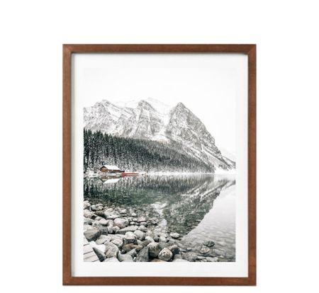 Snowy Lake Louise: winter art for the home, home decor    #LTKunder50 #LTKHoliday #LTKhome
