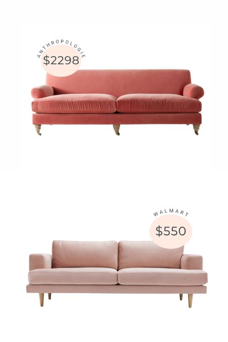 Anthropologie sofa dupe from Walmart!   #LTKsalealert #LTKstyletip #LTKhome
