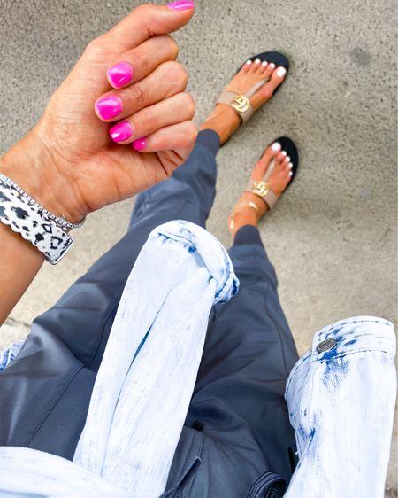 Joggers on sale size xxs sandals use code Alexis15 size 7 http://liketk.it/3huYq @liketoknow.it #liketkit #LTKunder100 #LTKunder50 #LTKshoecrush