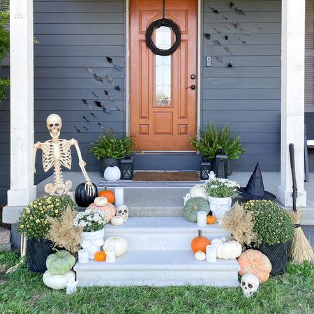 Fall Halloween porch decor. #spookyseason  #LTKhome #LTKHoliday