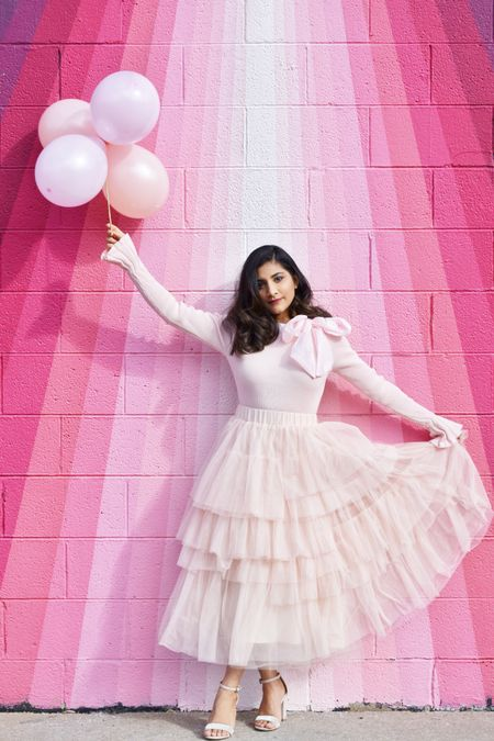 How much pink is too pink? I am obsessing over this tulle skirt and Bow top in blush. Is there a more perfect Valentine's Day outfit 😍💕💗 http://liketk.it/387Bn @liketoknow.it #liketkit #LTKSeasonal #LTKVDay #LTKunder100 #LTKstyletip #LTKsalealert Screenshot or 'like' this pic to shop the product details from the LIKEtoKNOW.it app, available now from the App Store!