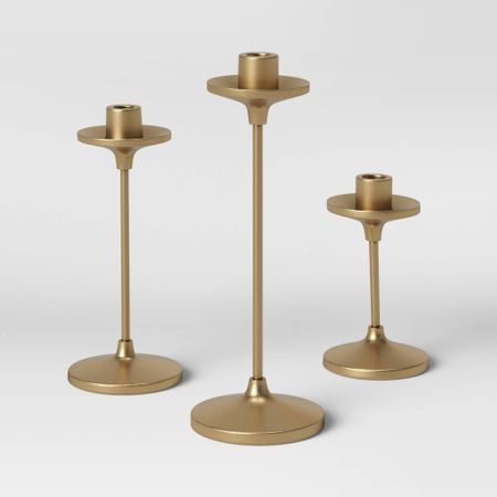 These are very similar to my target candle stick holders! They are the same material just a little bit of a different shape! They are really beautiful in person!  Fall Decor, home Decor, living room Decor, bedroom Decor, Dining table decor, centerpiece, restoration hardware, pottery barn, west elm, brass hardware, brass Decor, candleholders, Target Home , Target Finds,  #LTKhome #LTKstyletip #LTKunder100