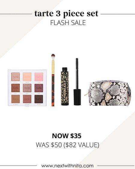 Tarte cosmetics three piece set on flash sale! Would make a great gift idea too!  #LTKbeauty #LTKsalealert #LTKunder50