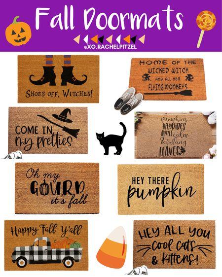 Fall Doormats!🎃   Halloween home decor | fall home decor | home decor | Halloween decor | Halloween home decor | Rachel Pitzel | Halloween | Halloween doormats | #halloween #rachelpitzel #xorachelpitzel #fall #ltkfall #falldecor #LTKunder100 #LTKunder50 #LTKsalealert @liketoknow.it #liketkit http://liketk.it/2W4KC