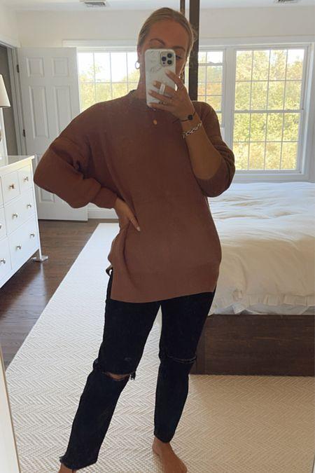 Abercrombie oversized fall sweater - wearing with leggings too!   #LTKSale #LTKstyletip #LTKunder50
