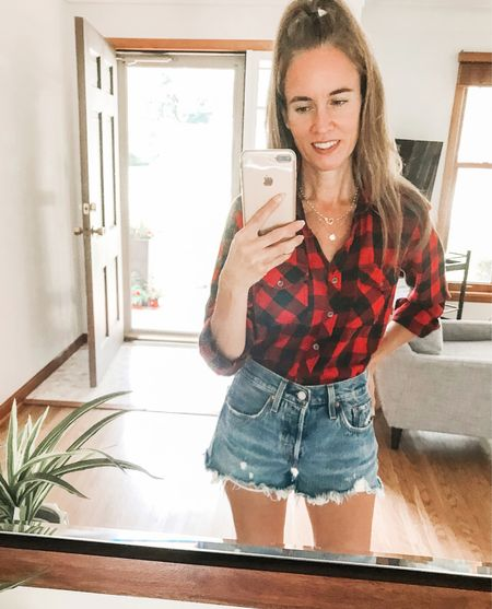 Hello!  I have been taking a social media break - and I thought I would pop back in to post a pic.  I love plaid shirts, especially with denim shorts in the summer. . . SHOP MY LOOK: 1️⃣ Use this link: 2️⃣ Download and follow me (@dailystylefinds) on the FREE @liketoknow.it app 3️⃣ Screenshot this photo 4️⃣ Click the link in my profile . . #styleover40 #fashionmoment #mystylediary #fashiondaily #stylebyme #stylefiles #over40blogger #styletrends #whatstrending #whatiworetoday #whowhatwearing #styleadvice #getthelook #ontrend #styleinfluencer #everydaystyle #todaysoutfit #plaidshirt #levis  #LTKstyletip #LTKunder50 #LTKunder100