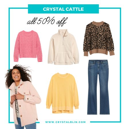 """Lots of new arrivals and the whole store is 50% off! I'm not 100% sure the leopard will work for #hocspring but everything else fits! These jeans are fantastic. I wear them for """"work"""" jeans but are cute enough to wear out too. #fallstyle   #LTKsalealert #LTKunder50"""