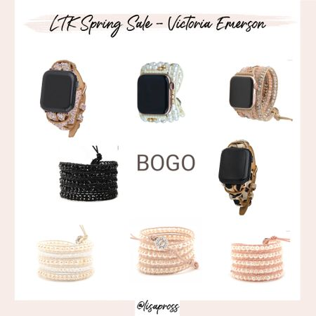 Victoria Emerson wrap bracelet and Apple Watch bands BOGO http://liketk.it/3cyNa #liketkit @liketoknow.it #LTKSpringSale #LTKunder50 #LTKsalealert