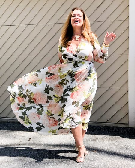 Happy Easter Weekend! I am absolutely loving all the feminine Florals This season! Mine was a fabulous find at Ross but I linked several sheer floral maxis for you. The gold metallic pattern in this dress matches my @sarahflint perfect block sandals perfectly. The sandals are made in Italy and have the most incredible memory foam comfort and arch support.  Use Code BAJOYB for $50.00 off your first pair.  Check out the new jacquard floral pattern that is available for a limited time!  It is swoon worthy. . . . . . . http://liketk.it/3bX2T #LTKSpringSale #LTKstyletip #LTKwedding #liketkit @liketoknow.it.family @liketoknow.it.home @liketoknow.it Download the LIKEtoKNOW.it shopping app to shop this pic via screenshot