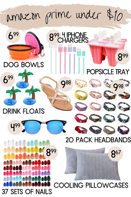 Amazon prime, Amazon finds, under $10, hair band, headband, nails, fake nails, dog bowl, pet supplies, sandals, charger, iphone accessories, sunglasses, drink float, pool day, pool party, summer, pillowcases, cooling pillowcase, popsicle tray, popsicles #liketkit http://liketk.it/3jVN3 @liketoknow.it #LTKunder50 #LTKhome #LTKsalealert Follow me on the LIKEtoKNOW.it shopping app to get the product details for this look and others