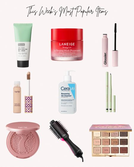 Most popular skin care, makeup and hair care. Versed, laneige, glossier, tarte, cerave, pixi  Follow me for more ideas and sales.   Double tap this post to save it for later.   #LTKstyletip #LTKunder50 #LTKbeauty