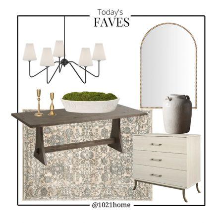 Dining table, mirror, chandelier, rug, nightstand, candle, family room, dining room, bedroom, arrays, target, Home Depot, Amazon, world market   http://liketk.it/3gUTV #liketkit @liketoknow.it #LTKfamily #LTKhome #LTKstyletip @liketoknow.it.home
