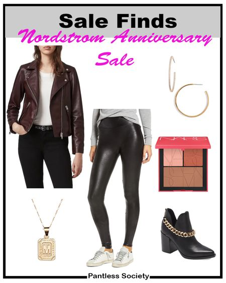 Nordstrom Anniversary Sale. Leather jacket. Mix high low. Fall outfit. Every day outfit. Hoop earrings. Nordstrom Sale. NSale. Black boots. Fall boots. Fall shoes.   #LTKstyletip #LTKsalealert #LTKshoecrush