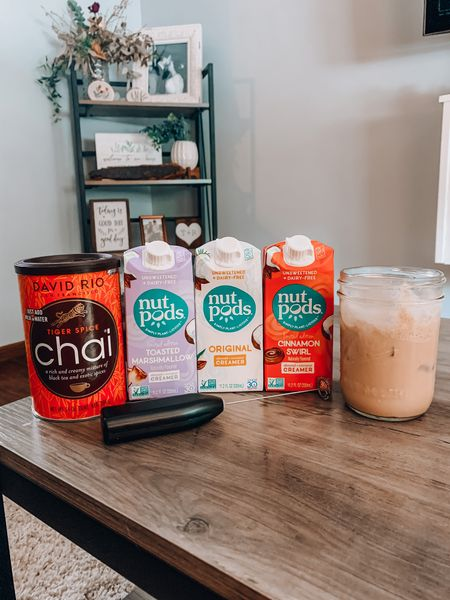 Chai tea mix + frother! Use code RAINIYVONNE for 15% off your purchase for nutpods creamers!  http://liketk.it/2SuEs @liketoknow.it #liketkit   #LTKhome #LTKunder50 #LTKunder100  Chai tea, frother, coffee, drinks