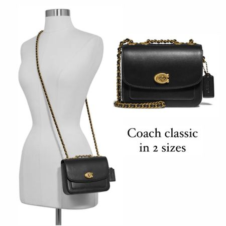 Coach classic shoulder bag // Madison leather handbag. Note, there are two sizes of this handbag but the stock photos look almost identical! So check the measurements. The smaller size is priced at $250 and is pictured here crossbody style. I was only able to find it still stocked at Nordstrom with a few left    #LTKitbag http://liketk.it/3kaub #liketkit @liketoknow.it