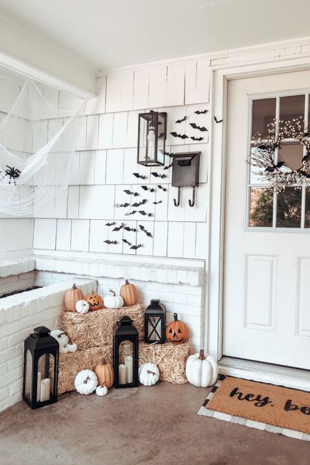 Halloween decor for the front porch. #halloween #frontporch   #LTKHoliday #LTKSeasonal #LTKunder100