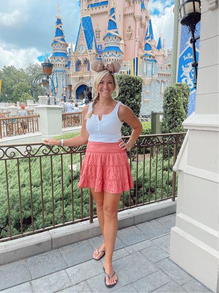 Disney style! Cute, comfy skirt and tank!   #LTKtravel #LTKunder50