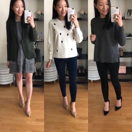 Everything pictured is now on sale and an extra 60% off at Ann Taylor! Reviews with sizing and accompanying video clips from my try-ons are in the Janury 26 and January 31 posts on www.whatjesswore.com. @liketoknow.it http://liketk.it/2KRP4 #liketkit #LTKsalealert #LTKstyletip #LTKworkwear #thisisann