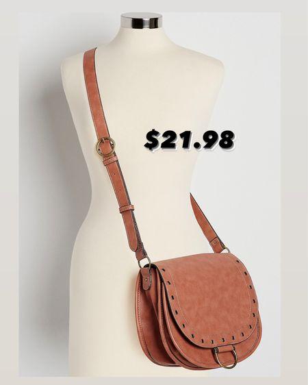 Crossbody saddlebag / Maurices sale http://liketk.it/3k0B1 #liketkit @liketoknow.it #LTKitbag #LTKunder50 #LTKsalealert