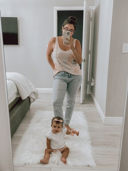 Rainy summer day and we are stayin' comfy in these jeans and tank!   #LTKstyletip #LTKunder50 #LTKbaby