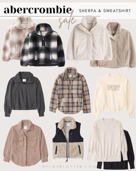 Abercrombie and Fitch sherpa and sweatshirts sale!   #LTKunder50 #LTKsalealert #LTKunder100