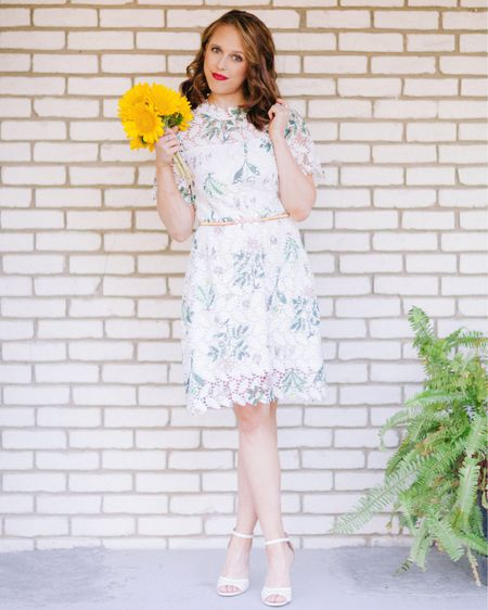 Like a wildflower, you must allow yourself to grow in all the places people thought you never would 🌻 Sharing this darling white lace & wildflower printed dress from @chicwish #ontheblog today! I love the unique print on lace detailing: it adds an almost vintage feel, don't you think? I for one prefer a little white dress over a little black dress- anyone else with me? Let me know! . . . You can head to the link in my bio to shop or shop your screenshot of this pic with the LIKEtoKNOW.it app 🛍✨ #ad #chicwish http://liketk.it/2CP0Q #liketkit @liketoknow.it #LTKunder100 #LTKunder50 #LTKstyletip #LTKsalealert #LTKspring  #LTKsummer #chicwish #lace #lacedress #wildflowers #crochetdress #whitedress #dresses #dress #fashionblogger #fashionista #ootd #onlineshopping #style #femeninefashion #femininestyle #vintage #retro