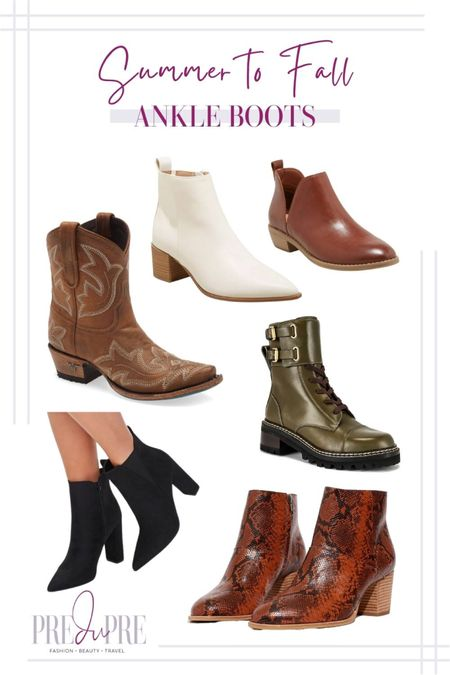 Transition your favorite summer outfits into the fall season with these five pieces. Read how to do easy-peasy season style changes on the blog www.predupre.com  http://liketk.it/3mWxl  ankle boots, cowboy boots, white boots, black boots, combat boots, snakeskin boots, summer to fall, fall outfits, fall outfit ideas, fall looks, transition pieces   #LTKstyletip #LTKSeasonal