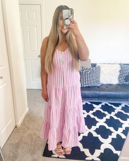 Pink Striped Dress   http://liketk.it/3hZqu    #liketkit @liketoknow.it