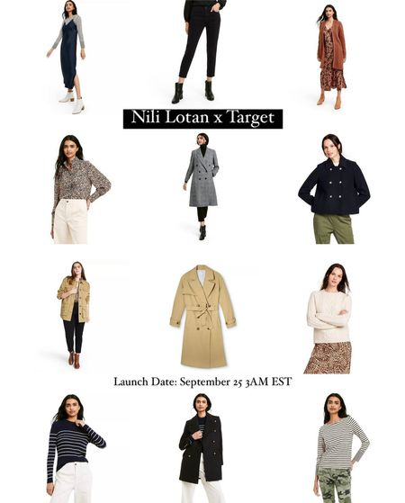 Nili Lotan x Target launching 9/25 at 3AM EST - Classic pieces $80 and under