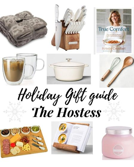 Holiday Gift Guide For The Hostess ❤️ . . .  http://liketk.it/32CFa #liketkit @liketoknow.it #LTKsalealert #LTKunder50 #LTKunder100 holiday gift guide, gift guide, gift ideas, gift ideas for her, gift ideas for the hostess, kitchen, Dutch oven, cook book, barefoot dreams blanket, wooden spoons, kitchen utensils, charcuterie board, target, target haul, candle, Capri blue candle, coffee mugs, clear coffee mugs, knife set, Amazon, cookbook stand, Amazon find, gift guide for the hostess, Christmas, gift guide, Black Friday, Black Friday sale, cyber Monday, cyber Monday sale, gift guide for her, stocking stuffers