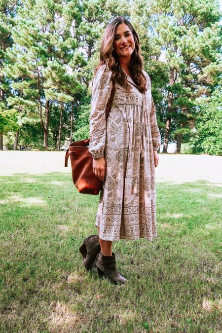 A dress so nice, I bought it twice! This long sleeve, boho dress is light enough for summer and transitions so well to fall with booties and a sweater 💕  #LTKSeasonal #LTKstyletip #LTKbacktoschool
