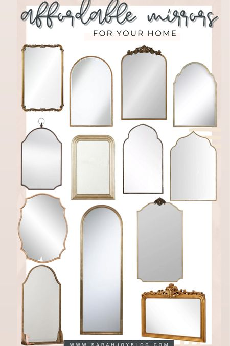 Rounded up some affordable mirrors! Lots of Anthropologie and Arhaus dupes here. http://liketk.it/3cg5g #liketkit @liketoknow.it #LTKSpringSale #LTKstyletip #LTKhome