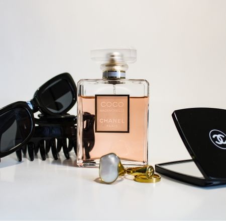Essentials - mirror, gold rings, claw clip, Chanel, fragrance, sunglasses  #LTKtravel #LTKbeauty