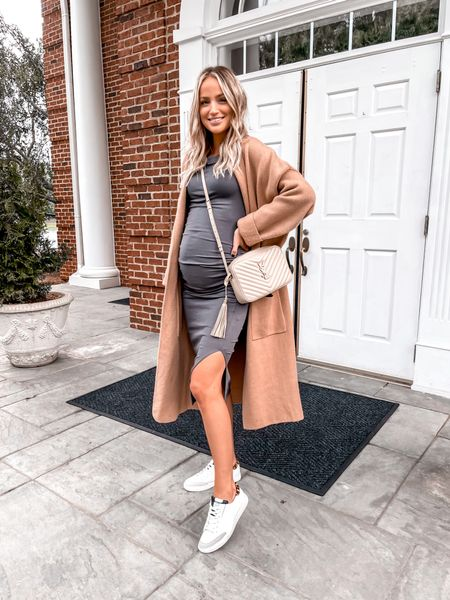 The best coatigan that I wear with EVERYTHING all season long is back 🙌🏻🎉 bump friendly style, but not maternity This dress is perfect, soft and stretchy.   #LTKbump #LTKstyletip #LTKSeasonal