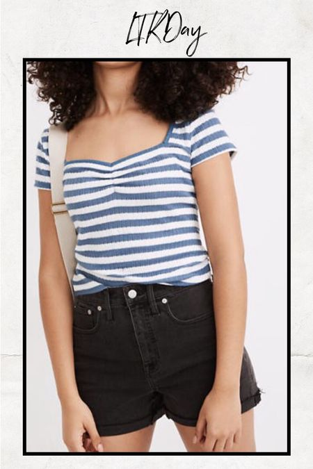 These black shorts are a great summer staple.   #LTKSeasonal #LTKstyletip #LTKunder50