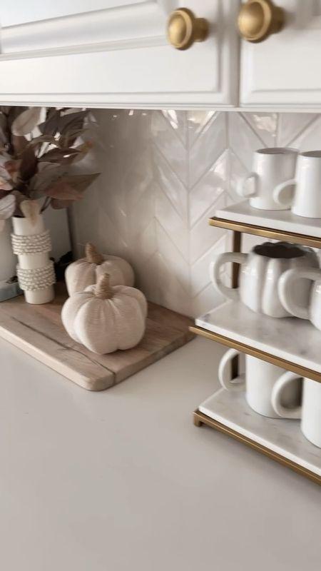 Home decor, fall decor, coffee mugs, coffee bar, neutral home decor, StylinAylinHome   #LTKhome #LTKunder50 #LTKstyletip