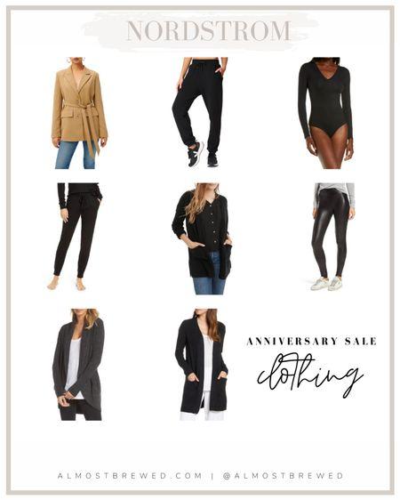NORDSTROM ANNIVERSARY SALE  Clothing picks. Cardigan. Spanks. Bodysuit. Fall fashion. Blazer. Leggings. Joggers.   #LTKunder100 #LTKsalealert #LTKunder50