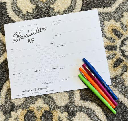 planner substitute (individual sheets) + my favorite pens 💓   #LTKworkwear #LTKhome #StayHomeWithLTK