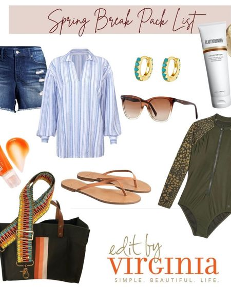 What I'm wearing: my Spring Break pack List!  Edit by Virginia, beach vacation, spring style, sunglasses, turquoise. http://liketk.it/3adhc #liketkit @liketoknow.it
