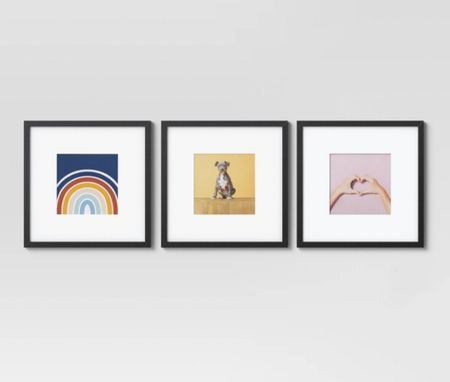 This set of 3 square frames comes in black or gold and is under $35!!! We love using them to frame our toddlers art and give as gifts.   #LTKhome #LTKunder50 #LTKfamily