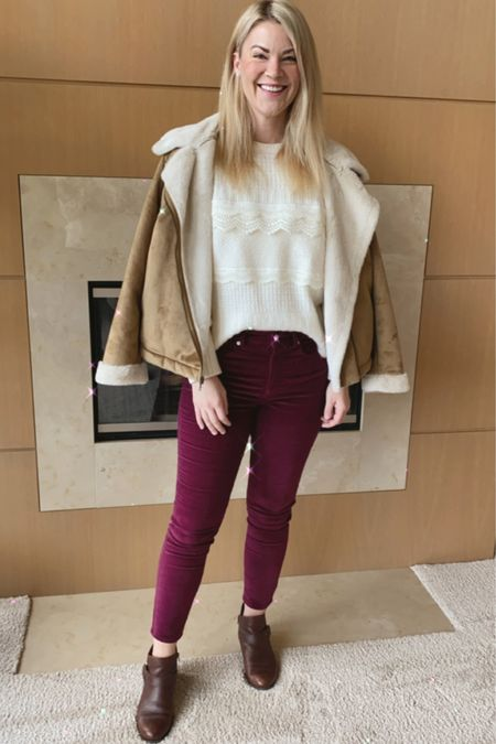 Express Sweater | Burgundy pants | everyday style @liketoknow.it http://liketk.it/37T5H #liketkit #LTKunder100 #LTKstyletip #LTKVDay