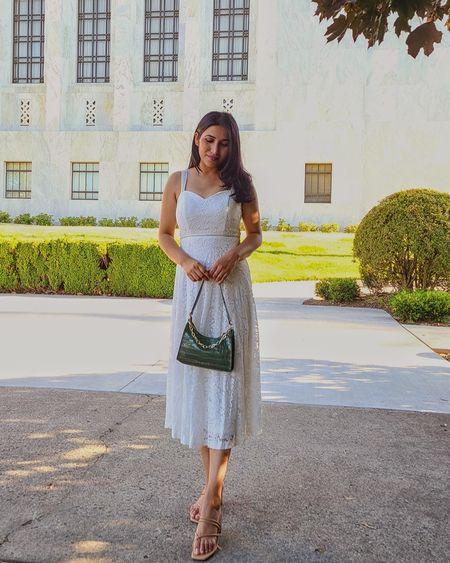 White dress   http://liketk.it/3k5Pl @liketoknow.it #liketkit #LTKDay #LTKsalealert #LTKstyletip #LTKunder50 #LTKunder100 #LTKshoecrush #summerdress #whitesummerdress #whitedress #mididress #summeroutfit