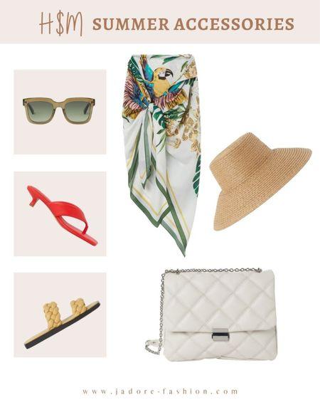 Summer accessories from H&M under $50 - right in time for summer vacation   #LTKtravel #LTKshoecrush #LTKunder50