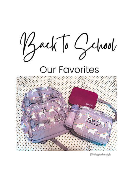 Back to school favorites Girls backpack Unicorn school supplies Lunchbox pottery barn  Bento box amazon school lunch  #LTKunder50 #LTKfamily #LTKkids