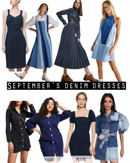 8 must have denim dresses to dress up & down.   #Anthropologie  #asos #freepeople #shopbop #whitehouseblackmarket #karenmillen  #LTKcurves #LTKeurope #LTKstyletip