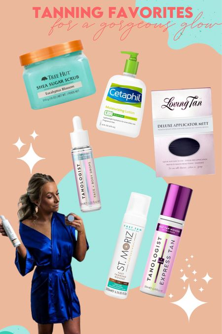1. Exfoliate with scrub 2. Shave 3. Cleanse 4. Moisturize  5. Apply Tanologist Drops to face and wash hands 6. Buff in Tan with Mitt (love both the tanologist and St. moriz tanning foams)  http://liketk.it/3a2v4 #liketkit @liketoknow.it