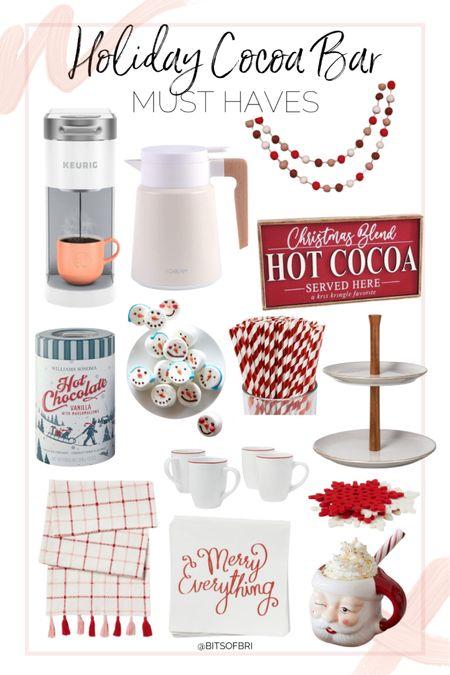 Holiday cocoa bar must haves.   Hot chocolate. Christmas decor. Home decor. Keurig. Mug    #LTKhome #LTKHoliday #LTKSeasonal