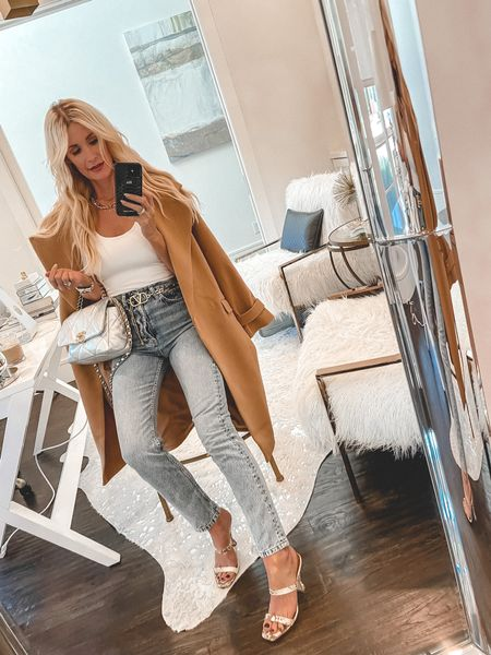 SALE ALERT! This gorgeous camel coat is on MAJOR SALE in the @lik  App only so click the link in my bio to shop it on SALE as well as tons of other amazing fall looks ALL ON SALE!   This stunning camel coat is seriously so good! The color is gorgeous and it looks way more expensive than it really is! It runs tts, I'm wearing an XS.     #LTKunder100 #LTKunder50 #LTKsalealert