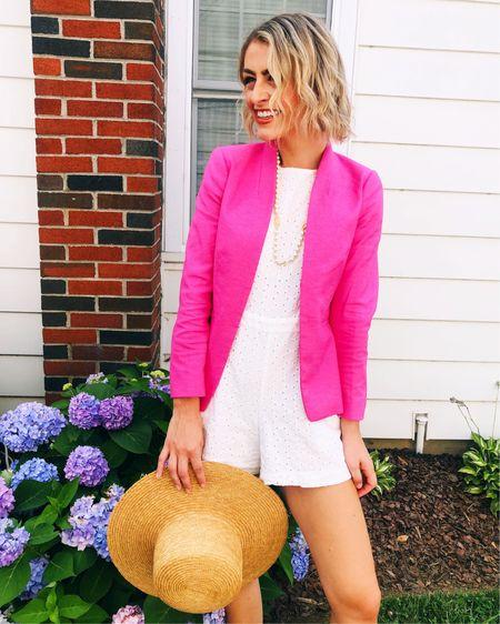 My pink linen blazer is on major sale! 💕 http://liketk.it/3jcN9 #liketkit @liketoknow.it