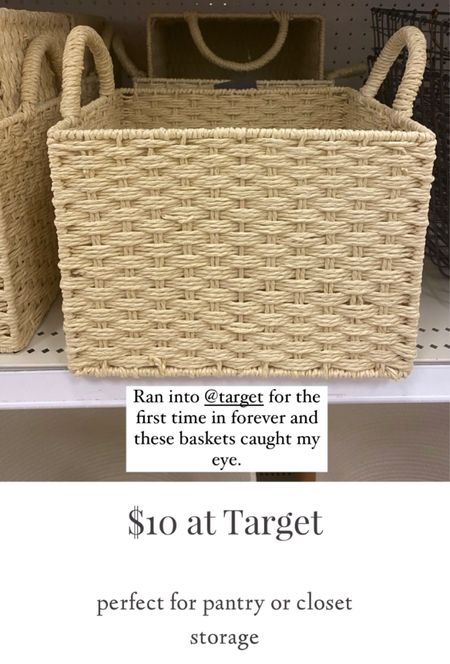 Perfect storage baskets for pantry or closets at #Target!   #LTKhome #StayHomeWithLTK #LTKunder100